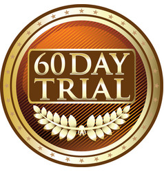 Sixty day trial icon vector