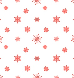 Snowflake pastel red white background vector