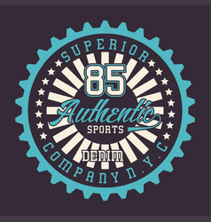 Superior authentic sports denim vector