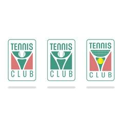 Tennis club logo vector image