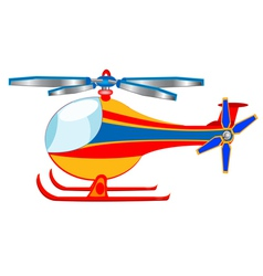 the cartoon helicopter vector image vector image