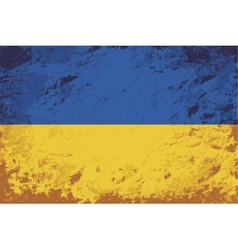 Ukrainian flag grunge background vector