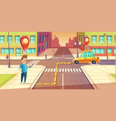 urban navigation taxi application concept vector image