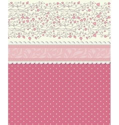 Vintage floral red background vector image vector image