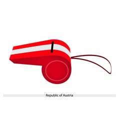 White and Red Stripe on Republic of Austria vector image
