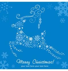 Ornate decorative Christmas deer card vector image