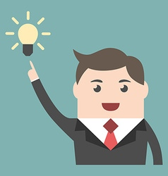 Businessman with great idea vector