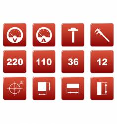 Gadget square icons vector