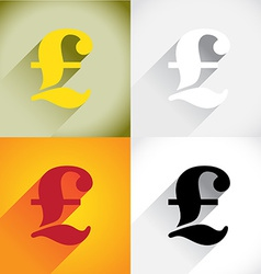 Pound currency symbol vector