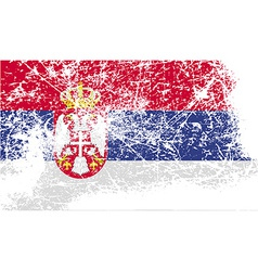 Flag of serbia with old texture vector