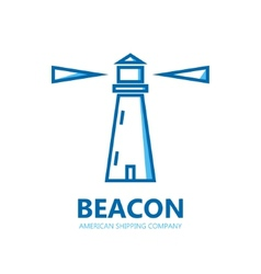Logo lighthouse vector