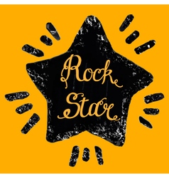 Rock star grunge icon vector