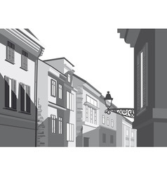 Street of city vector