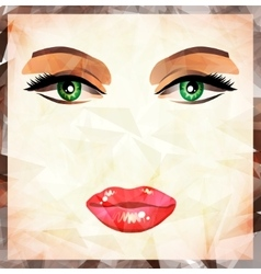 Modern lips background vector