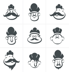 chef icons vector image