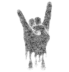 Musical rock gesture vector