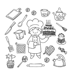 Cook tools set vector