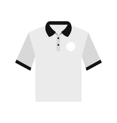 White men polo shirt flat icon vector image