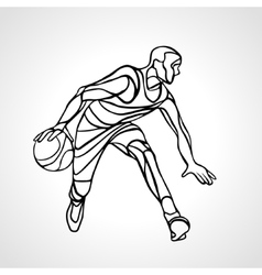 Basketball player abstract silhouette vector