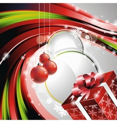 Christmas with gift box vector