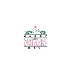badge as part of the design - mothers day sticker vector image vector image