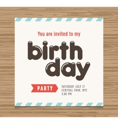 birthday party card vector image vector image