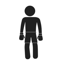 boxer silhouette avatar icon vector image