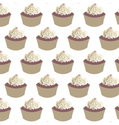 Delicious Cupcakes pattern vector image