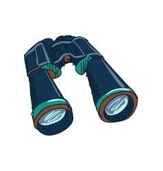 doodle Binoculars vector image