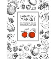 Food design template vector image