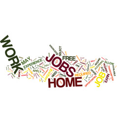 Free work at home jobs text background word cloud vector