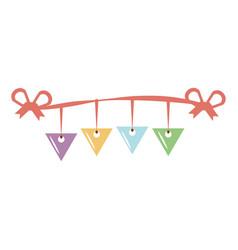 garlands party decoration icon vector image vector image