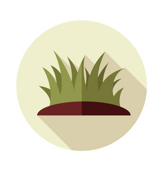 Grass flat icon vector