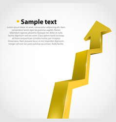 growth progress arrow vector image