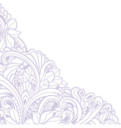 hand-drawn decorative floral element for design vector image