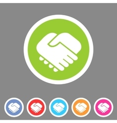 Handshake icon flat web sign symbol logo label vector