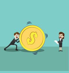 happy successful businessman and businesswomen vector image vector image