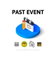 Past event icon in different style vector