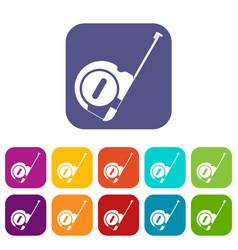 Roulette construction icons set vector