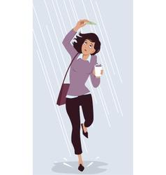 Saving for a rainy day vector