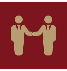 The handshake icon partnership and negotiation vector