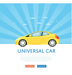 Website design with universal city car vector