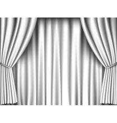 white curtain vector image