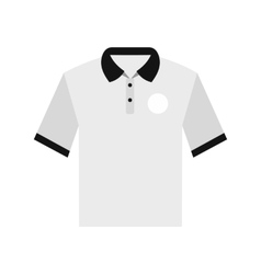 White men polo shirt flat icon vector image vector image