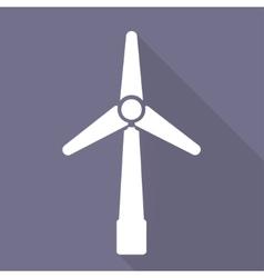 Wind turbine icon eco concept vector