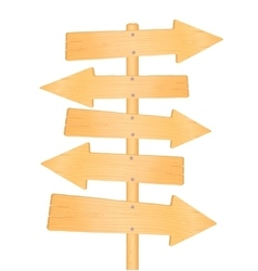 Wooden direction road signs vector image