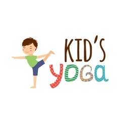 Yoga kids isolated logo vector