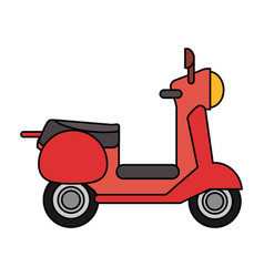 red scooter transport vehicle image vector image