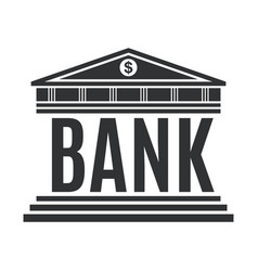 Bank concept icon isolated on white background vector