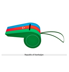 Blue red and green whistle of azerbaijan vector
